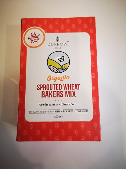 Durrow Mills Organic Sprouted Wheat BAKERS Mix 800g