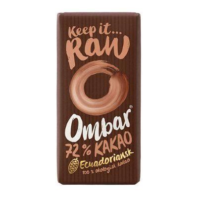 Ombar Raw Chocolate Bar 72% Cacao Ecuadorian 35g