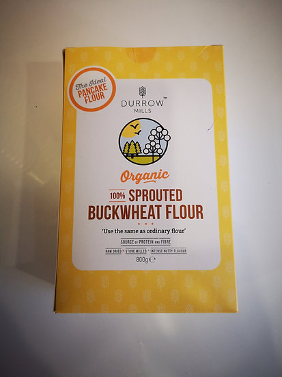Durrow Mills Organic Sprouted Buckwheat Flour 800g (Pancake Flour)