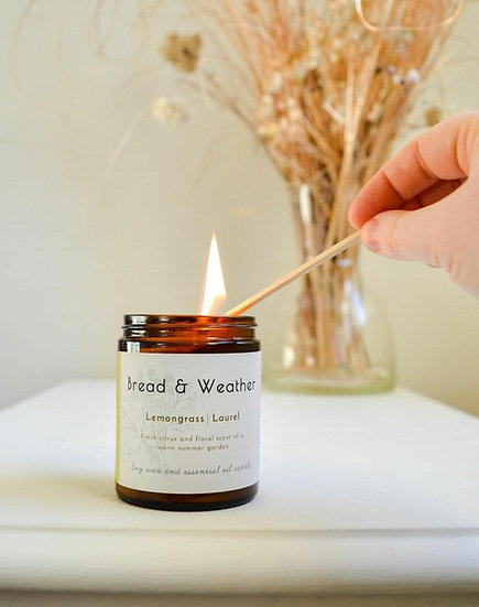 Bread and Weather Candle Cinnamon Cedarwood