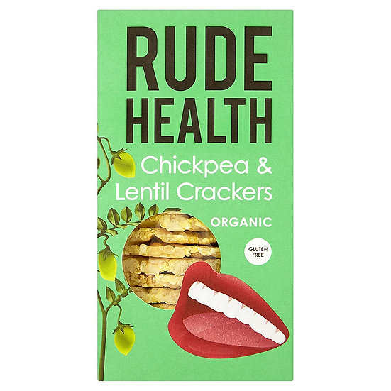 Rude Health Chickpea and Lentil Crackers Organic