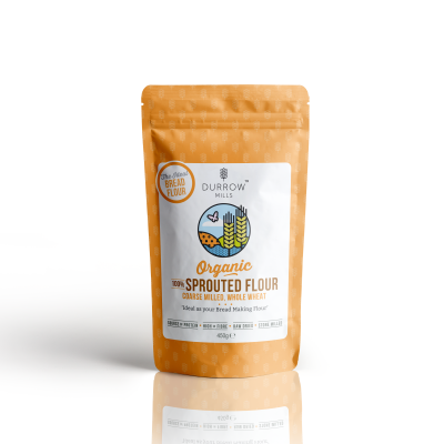 Durrow Mills Organic Sprouted Flour Wholewheat Coarse 800g