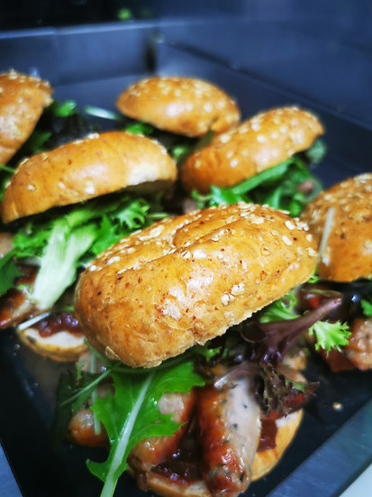 Black Pepper and Chive Sausage Bap (G)
