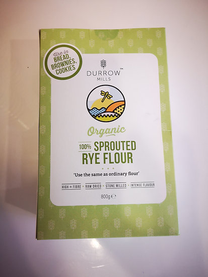 Durrow Mills Organic Sprouted Rye Flour 800g