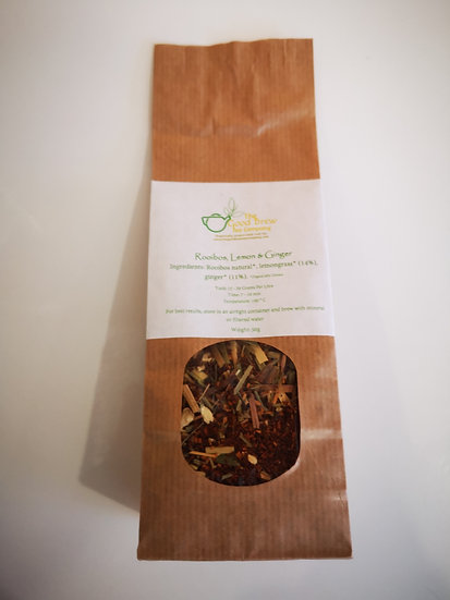 The Good Brew Tea Co. Roibus, Lemon and Ginger Tea 50g