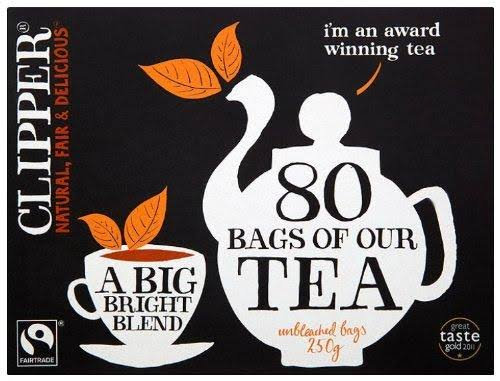 Clipper Unbleached Bags 80 Teabags