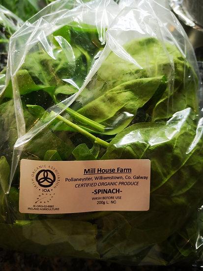 Mill House Farm Organic Spinach 200g