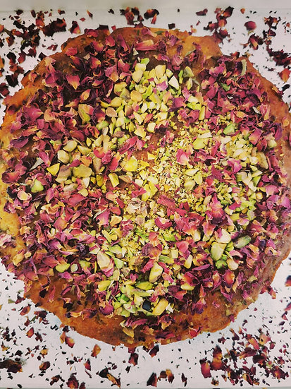 Organic Polenta, Orange and Pistachio Nut Cake x 1 slice