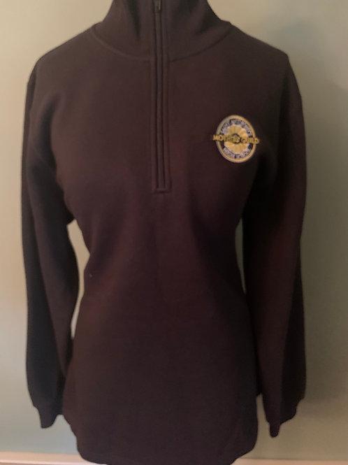 Black 1/4 zip-sweatshirt MG Logo