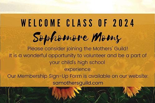Incoming Sophomore Membership