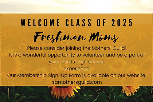 Incoming Freshman Membership