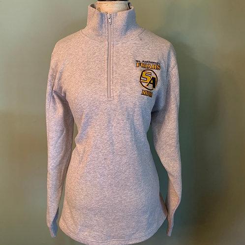 Gray quarter zip sweatshirt
