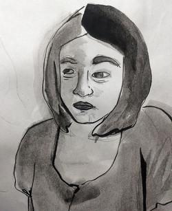 Pencil, Watercolor, Ink
