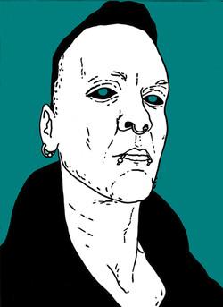 George, Mixed Media, Portrait