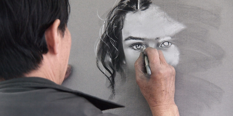Beginning Drawing - Portraits – Registration Required – Virtual Online Live Class
