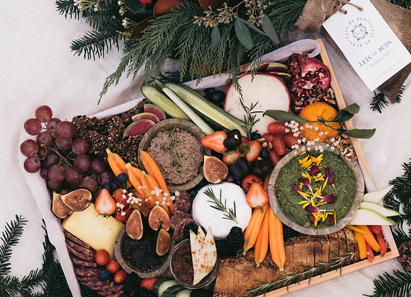 Meat + Cheese Holiday Grazing Platter | By Raiz Holistic