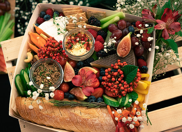 Petite Plant Based Holiday Grazing Platter | By Raiz Holistic