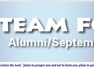 September 2017 Alumni Newsletter