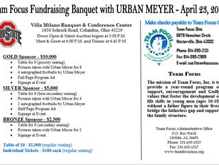 Urban Meyer To Speak At Team Focus Ohio Banquet April 23, 2019