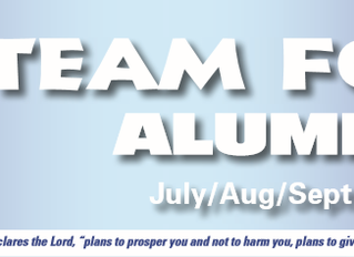 July/Aug/Sept 2018 Alumni Newsletter