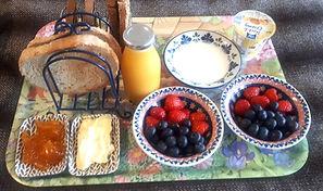 Breakfast fruit & yogurt
