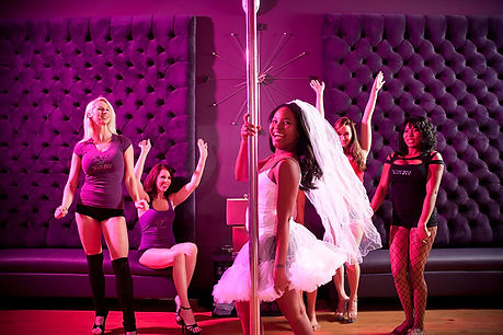 Bridal-Party-Doing-Pole-Dancing-as-Bache
