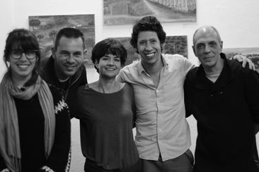 Left to right: Berta Jaque Rosa (Art Educator), Anselmo Evangelista (Museum Assistant), Marcia Louzada (Director ABSTRACT HOUSE), Diefferson Helson (Head of Heritage Committee, Cambuí), Tota Morais, (artist and Director 397 Galeria).