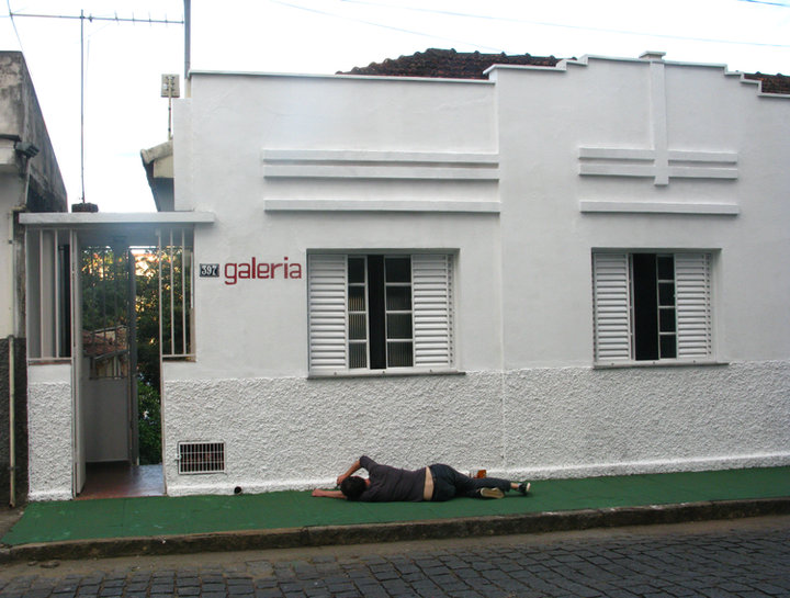 artist Darren O'Connor, untitled photograph/performance, Brazil, 2013