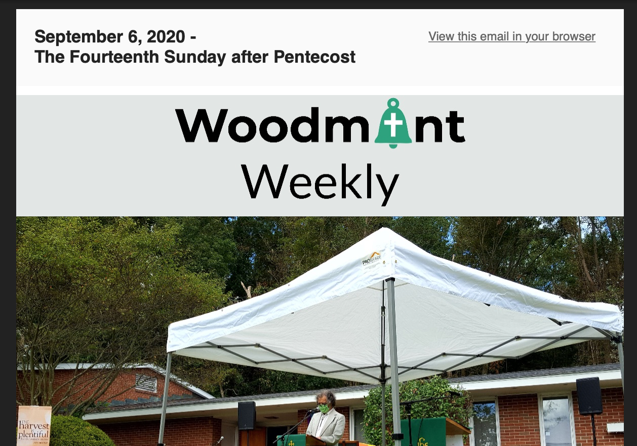 Woodmont Weekly 9-6-20
