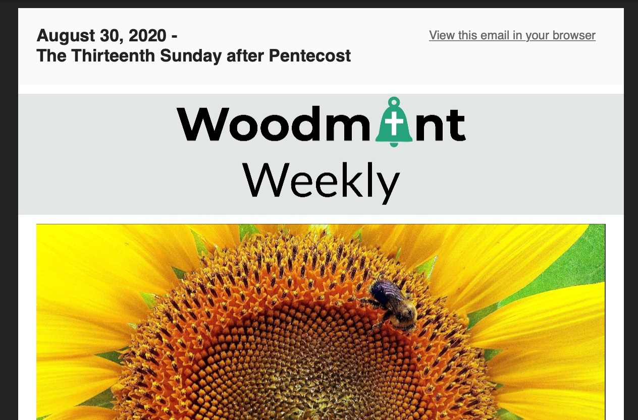 Woodmont Weekly 8-30-20