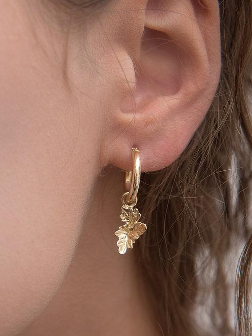 Artemisia Charm Hoop Earrings - Single