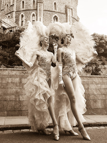 Showgirl costumes for J'Adore la Vie