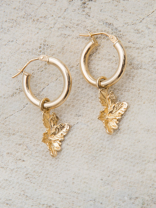 Artemisia Charm Hoop Earrings - Pair
