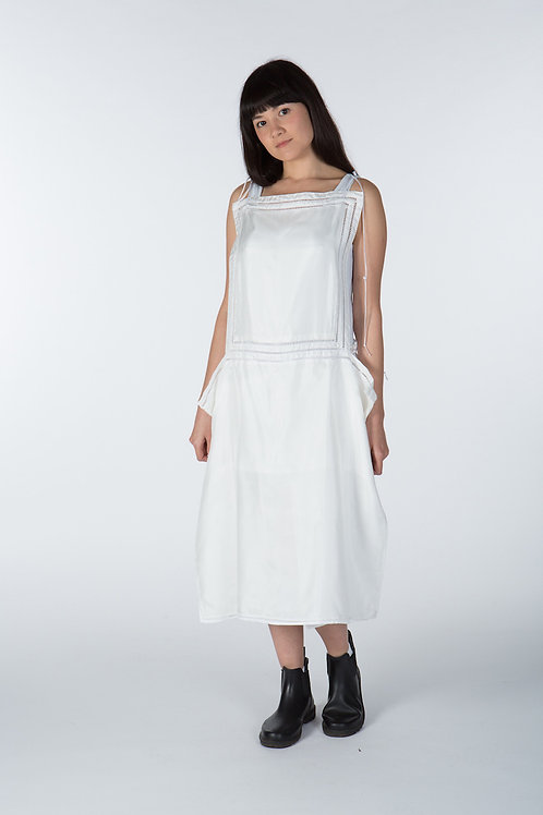 Artemisia Organic Silk Apron Dress