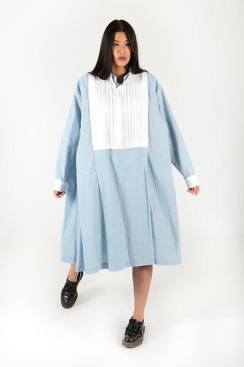Amsonia Reversible Organic Cotton/Silk Shirt Dress