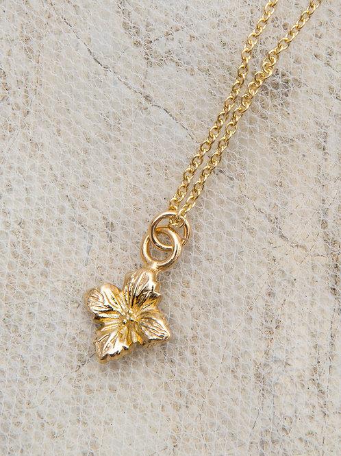 Hydrangea Pendant Choker Necklace