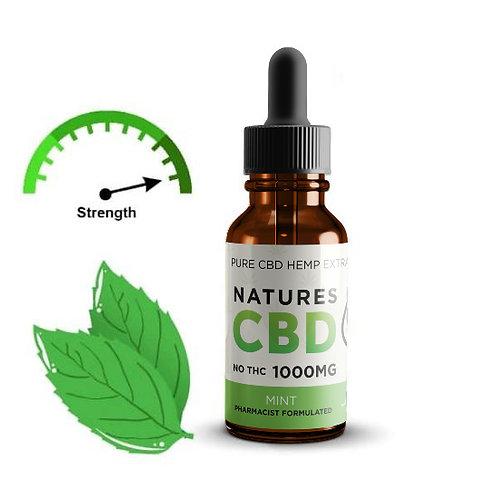 Natures Pure CBD Tincture Oil - Mint Flavor