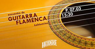 Encuentro guitarra flamenca 07.03 Poster