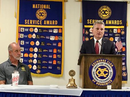 U.S. Rep. Buddy Carter speaks to the Exchange club of Brunswick