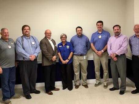 The Glynn County Board of Elections speaks to the Exchange Club