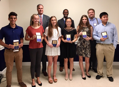 Student of the month program at the Exchange club of Brunswick