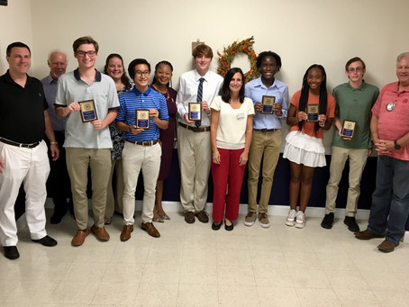 The Exchange Club of Brunswick Honors Students of the Month