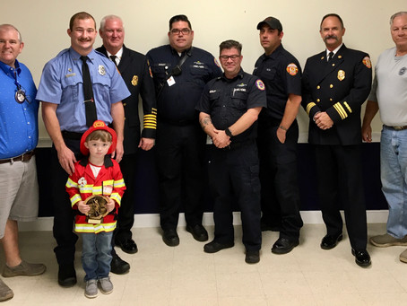 The Exchange club of Brunswick celebrate Firefighters of the year