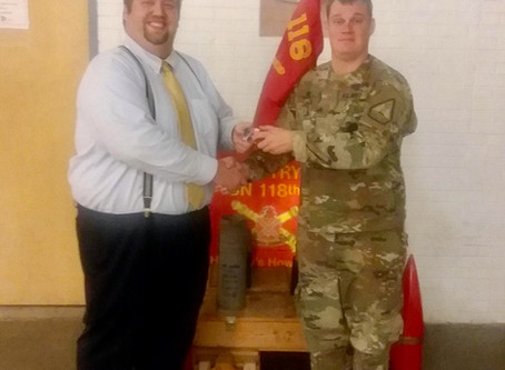 Exchange club of Brunswick Donates to Bravo Battery 1-118th field artillery