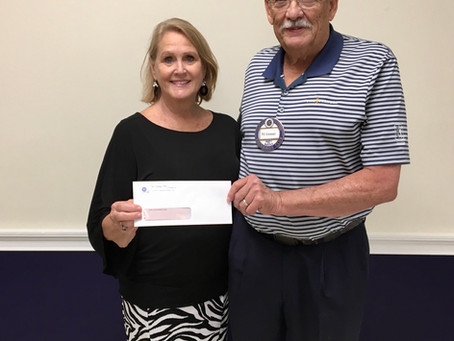 Exchange club of Brunswick Donate to Carl Alexander memorial fund