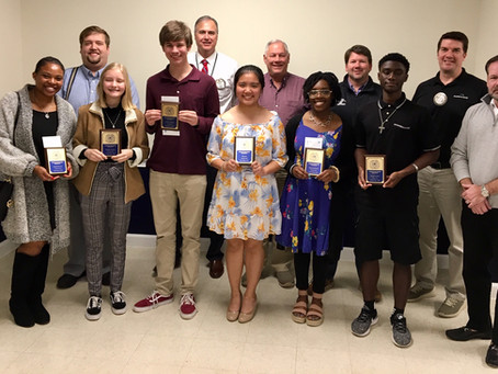 The Exchange club of Brunswick honors the Student of the month