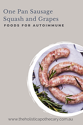 One pan Sausage Autoimmune Recipes