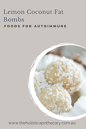 lemon coconut fat bombs autoimmune recipes