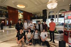 ゼミ旅行先の香港のホテルにて