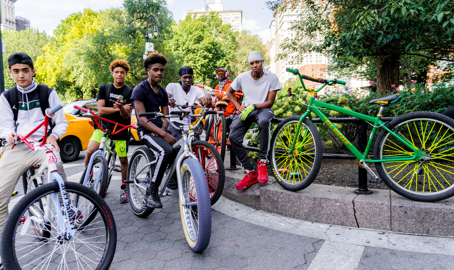 BOYS FROM BED STUY, WITH BIKES